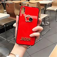 Недорогие Кейсы для iPhone 8-Кейс для Назначение Apple iPhone X iPhone 7 Plus Стразы С узором Кейс на заднюю панель Однотонный Мягкий Силикон для iPhone X iPhone 8