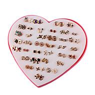 お買い得  -女性用 36組 スタッドピアス  -  ファッション レインボー 幾何学形 イヤリング 用途 日常