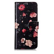 Недорогие Чехлы и кейсы для Galaxy S7 Edge-Кейс для Назначение SSamsung Galaxy S8 Plus S8 Бумажник для карт Кошелек со стендом Флип С узором Чехол Цветы Твердый Кожа PU для S8 Plus