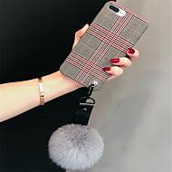 Недорогие Кейсы для iPhone 8-Кейс для Назначение Apple iPhone X / iPhone 7 Plus С узором Кейс на заднюю панель Полосы / волосы Мягкий текстильный для iPhone X / iPhone 8 Pluss / iPhone 8