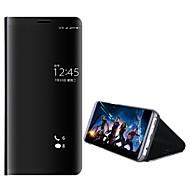 お買い得  携帯電話ケース-ケース 用途 Huawei Mate 10 pro Mate 10 lite スタンド付き メッキ仕上げ ミラー フルボディーケース 純色 ハード PC のために Mate 10 Mate 10 pro Mate 10 lite Mate 9 Mate 9 Pro