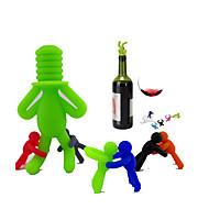 abordables Abridores y Accesorios de Bar-Tapones de vino Silicona, Vino Accesorios Alta calidad Creativo para Barware Clásico / Conveniente / Cocina creativa Gadget 7pcs