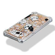 Недорогие Чехлы и кейсы для Galaxy S8 Plus-Кейс для Назначение SSamsung Galaxy S8 Plus S8 Защита от удара Движущаяся жидкость С узором Кейс на заднюю панель С собакой Сияние и блеск