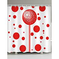 お買い得  浴室用小物-シャワーカーテン&フック コンテンポラリー ポリエステル 幾何学模様 機械製 防水