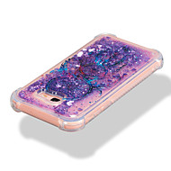 Недорогие Чехлы и кейсы для Galaxy А-Кейс для Назначение SSamsung Galaxy A7(2017) A5(2017) Защита от удара Движущаяся жидкость С узором Кейс на заднюю панель Сияние и блеск