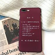 Недорогие Кейсы для iPhone 8 Plus-Кейс для Назначение Apple iPhone X / iPhone 7 Plus Матовое / С узором Кейс на заднюю панель Слова / выражения Твердый Акрил для iPhone X