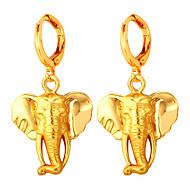 お買い得  -女性用 スタッドピアス  -  ゴールドメッキ シンプル, 特大の ゴールド 用途 パーティー デート