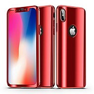 Недорогие Кейсы для iPhone 8-Кейс для Назначение Apple iPhone X iPhone 8 Покрытие Зеркальная поверхность Чехол Однотонный Твердый ПК для iPhone X iPhone 8 Pluss