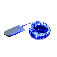 Χαμηλού Κόστους Φωτολωρίδες LED-BRELONG® 2m Φώτα σε Κορδόνι 20 LEDs Μικροδιακόπτες (Dip) LED Θερμό Λευκό / Άσπρο / Μπλε Διακοσμητικό 1pc