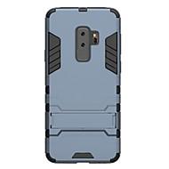 Недорогие Чехлы и кейсы для Galaxy S9 Plus-Кейс для Назначение SSamsung Galaxy S9 S9 Plus Защита от удара со стендом Кейс на заднюю панель броня Твердый ПК для S9 Plus S9 S8 Plus