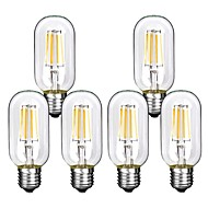 cheap LED Filament Bulbs-6pcs 4W 360 lm E26/E27 LED Filament Bulbs T45 4 leds COB Decorative Warm White Cold White 220-240V