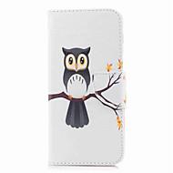 Недорогие Чехлы и кейсы для Galaxy А-Кейс для Назначение SSamsung Galaxy A8 2018 A8 Plus 2018 Бумажник для карт Кошелек со стендом С узором Чехол Сова Твердый Кожа PU для A3