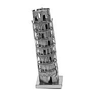 Χαμηλού Κόστους Αξεσουάρ για παιχνίδια και χόμπι-Παζλ 3D Μεταλλικά παζλ Ο κεκλιμένος πύργος της Πίζας Focus Παιχνίδι Χειροποίητο Μεταλλικό 1pcs Στητό Στυλ Αρχιτεκτονική Jucărie Παιδικά