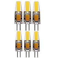 お買い得  -SENCART 6本 4W 400-450lm G4 LED2本ピン電球 T 4 LEDビーズ COB 装飾用 温白色 クールホワイト 12V