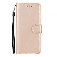 Недорогие Чехлы и кейсы для Galaxy S9 Plus-Кейс для Назначение SSamsung Galaxy S9 S9 Plus Бумажник для карт Кошелек со стендом Флип Чехол Сплошной цвет Твердый Кожа PU для S9 Plus