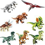 abordables Maquetas y Juguetes de Construcción-Original Jurassic World Tyrannosaurus Building Blocks Jurrassic Park Bloques de construcción Dinosaurio Animal Clásico 8pcs Piezas Niños