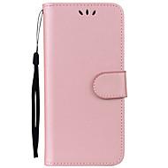 Недорогие Чехлы и кейсы для Galaxy S8 Plus-Кейс для Назначение SSamsung Galaxy S8 Plus S8 Бумажник для карт со стендом Флип Чехол Сплошной цвет Твердый Кожа PU для S8 Plus S8