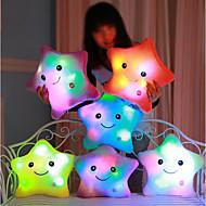 cheap Dolls & Stuffed Toys-Luminous pillow Led Light Pillow Start Shape Stuffed Animal Plush Toy Comfy Romance Lovely Gift