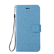 お買い得  携帯電話ケース-ケース 用途 Xiaomi Mi 6 Mi 5X カードホルダー ウォレット スタンド付き フリップ フルボディーケース 純色 ハード PUレザー のために Xiaomi Mi Note 2 Mi 6 Plus Xiaomi Mi 6 Xiaomi Mi 5X Xiaomi