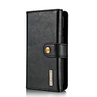 お買い得  -ケース 用途 Apple iPhone 8 Plus iPhone 7 Plus カードホルダー スタンド付き フリップ フルボディーケース 純色 ハード 本革 のために iPhone 8 Plus iPhone 7 Plus
