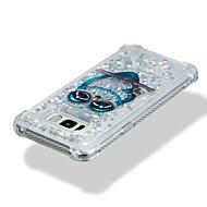 Недорогие Чехлы и кейсы для Galaxy S7 Edge-Кейс для Назначение SSamsung Galaxy S8 Plus S8 Защита от удара Движущаяся жидкость С узором Кейс на заднюю панель Сияние и блеск Сова