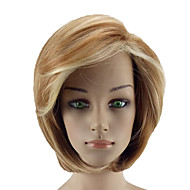 お買い得  -人工毛ウィッグ ストレート ブロンド バング付き 合成 カラーグラデーション ブロンド かつら 女性用 ショート キャップレス ライトゴールデン hairjoy
