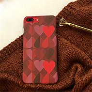Недорогие Кейсы для iPhone 8 Plus-Кейс для Назначение Apple iPhone X / iPhone 7 Plus С узором Кейс на заднюю панель С сердцем Твердый Акрил для iPhone X / iPhone 8 Pluss / iPhone 8