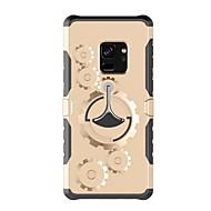 Недорогие Чехлы и кейсы для Galaxy S8 Plus-Кейс для Назначение SSamsung Galaxy S9 S9 Plus со стендом С ремешком на руку Сплошной цвет Твердый пластик для S9 Plus S9 S8 Plus S8