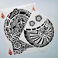 cheap Temporary Tattoos-2 pcs Tattoo Stickers Temporary Tattoos Totem Series Body Arts Shoulder