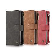 Недорогие Чехлы и кейсы для Galaxy Note-Кейс для Назначение SSamsung Galaxy Note 8 Бумажник для карт Кошелек Чехол Сплошной цвет Твердый Настоящая кожа для Note 8