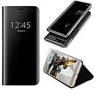 preiswerte Handyhüllen-Hülle Für Huawei P10 Plus P10 Lite mit Halterung Spiegel Flipbare Hülle Automatisches Schlafen/Aufwachen Ganzkörper-Gehäuse Volltonfarbe