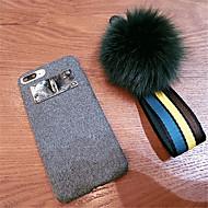 Недорогие Кейсы для iPhone 8 Plus-Кейс для Назначение Apple iPhone X iPhone 7 Plus С узором Кейс на заднюю панель Однотонный Мягкий текстильный для iPhone X iPhone 8 Pluss