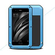 お買い得  携帯電話ケース-ケース 用途 Xiaomi Mi 6 水/汚れ/ショックプルーフ フルボディーケース 純色 ハード メタル のために Xiaomi Mi 6