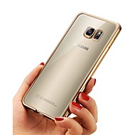 abordables Galaxy A7(2016) Carcasas / Fundas-Funda Para Samsung Galaxy A8 2018 A8 Plus 2018 Cromado Ultrafina Cuerpo transparente Funda Trasera Un Color Suave TPU para A3 (2017) A5