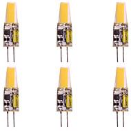 お買い得  -WeiXuan 6本 2W 160lm G4 LED2本ピン電球 T 1 LEDビーズ COB 温白色 クールホワイト 12V