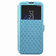 Недорогие Чехлы и кейсы для Galaxy S8 Plus-Кейс для Назначение SSamsung Galaxy S9 S9 Plus Бумажник для карт Кошелек со стендом с окошком Флип Магнитный Чехол Геометрический рисунок