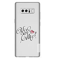 Недорогие Чехлы и кейсы для Galaxy Note-Кейс для Назначение SSamsung Galaxy Note 8 Прозрачный С узором Кейс на заднюю панель Слова / выражения С сердцем Мягкий ТПУ для Note 8