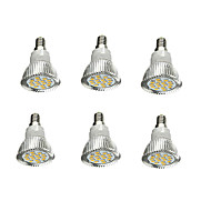 abordables Spots LED-6pcs 5W 380-420lm E14 Spot LED 16 Perles LED SMD 5630 Décorative Blanc Chaud 85-265V
