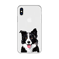 voordelige -hoesje Voor Apple iPhone X / iPhone 8 Plus Patroon Achterkant Hond / dier / Cartoon Zacht TPU voor iPhone X / iPhone 8 Plus / iPhone 8
