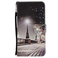 お買い得  携帯電話ケース-ケース 用途 Huawei Mate 10 Mate 10 lite カードホルダー ウォレット スタンド付き フリップ 磁石バックル フルボディーケース シティビュー ハード PUレザー のために Mate 10 lite Mate 10