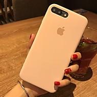 Недорогие Кейсы для iPhone 8 Plus-Кейс для Назначение Apple iPhone X iPhone 8 Защита от удара Кейс на заднюю панель Сплошной цвет Твердый Кожа PU для iPhone X iPhone 8
