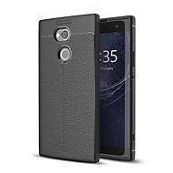 お買い得  携帯電話ケース-ケース 用途 Sony Xperia XA2 Ultra つや消し エンボス加工 バックカバー ソリッド ソフト TPU のために Xperia XA2 Ultra