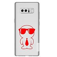 Недорогие Чехлы и кейсы для Galaxy Note 8-Кейс для Назначение SSamsung Galaxy Note 8 Прозрачный С узором Кейс на заднюю панель Мультипликация Мягкий ТПУ для Note 8