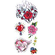 abordables Tatuajes Temporales-1 pcs Tatuajes Adhesivos Los tatuajes temporales Series de Tótem / Series de Flor Impermeable Artes de cuerpo Cuerpo / brazo / hombro