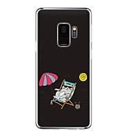 Недорогие Чехлы и кейсы для Galaxy S9-Кейс для Назначение SSamsung Galaxy S9 Прозрачный С узором Кейс на заднюю панель Кот Мягкий ТПУ для S9