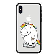 Недорогие Кейсы для iPhone 8 Plus-Кейс для Назначение Apple iPhone X iPhone 8 Plus С узором Кейс на заднюю панель единорогом Мультипликация Животное Твердый Акрил для