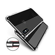 Недорогие Кейсы для iPhone 8 Plus-Кейс для Назначение Apple iPhone X / iPhone 8 Защита от удара / Прозрачный Body Кейс на заднюю панель Однотонный Мягкий ТПУ для iPhone X / iPhone 8 Pluss / iPhone 8