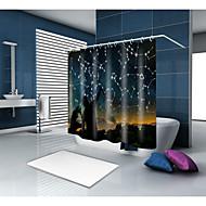 お買い得  浴室用小物-シャワーカーテン&フック コンテンポラリー 近代の ポリエステル 現代風 ノベルティ柄 機械製 防水 浴室