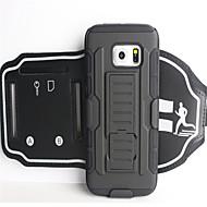 Недорогие Чехлы и кейсы для Galaxy S-Кейс для Назначение SSamsung Galaxy A8 2018 А5 (2018) Спортивныеповязки Бумажник для карт Защита от удара С ремешком на руку Однотонный