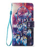 Недорогие Чехлы и кейсы для Galaxy A5(2017)-Кейс для Назначение SSamsung Galaxy A8 2018 А5 (2018) Бумажник для карт со стендом Флип Магнитный С узором Чехол Ловец снов Твердый Кожа